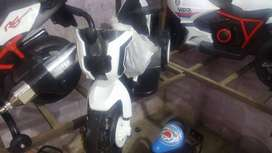 White Plastic Motorcycle for kids