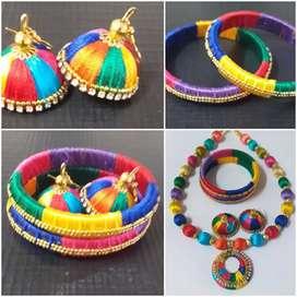 Silk Thread Jwellery Set