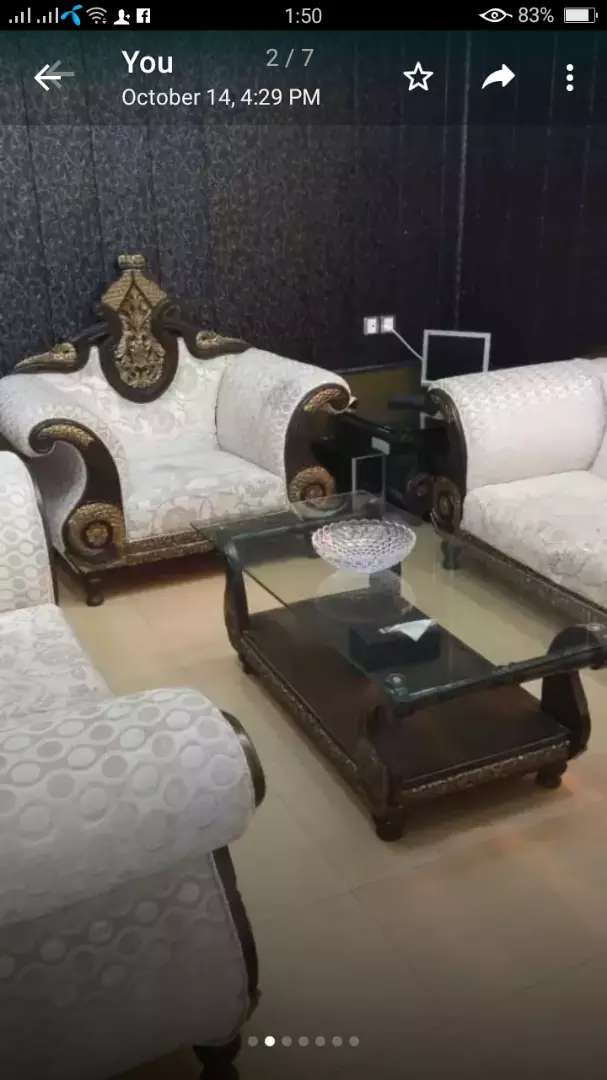 Selling sofa Set 6 Setar and 3 table 10\10 8 month use 0