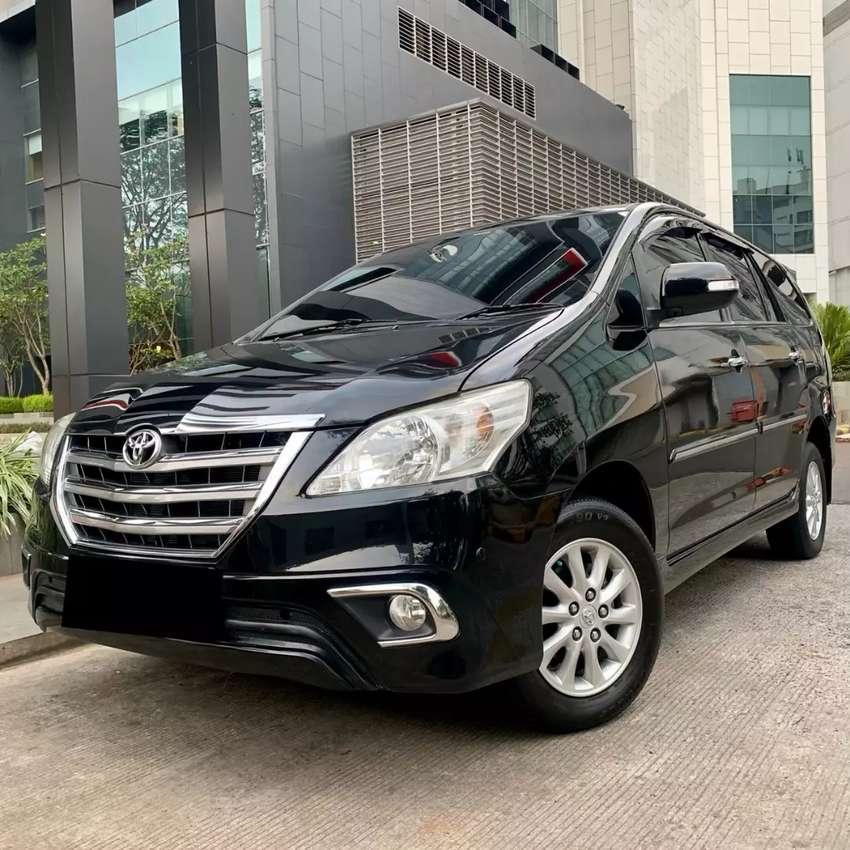 Toyota Kijang Innova V bensin Hitam 2014 Pajak Panjang 10-2020 0