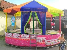bebek fiber trampoline kereta kencana odong