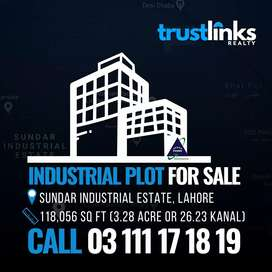 3.3 Acre Industrial Plot For Sale