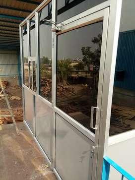 Aluminium and PVC door