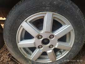 """14"""" Alloy weel with new tyre"""