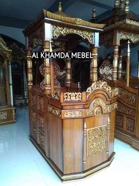 Ready Mimbar Masjid Material Kayu Jati Berkualitas @680