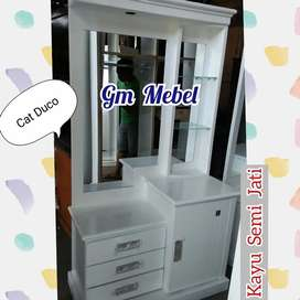 GM MEBEL. Meja Rias MR Semi Jati putih cat duco