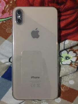 iphne xs max gold 6mnth wrrnty (international wrrnty)with all accesr's