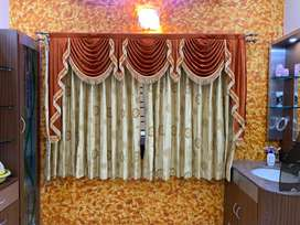 Fancy coloured curtains