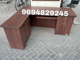 New brown L shape office table