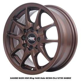 Ready velg type SASIREI HSR R14X6 H8 SMBRZ COCOK DI NISSAN MARCH