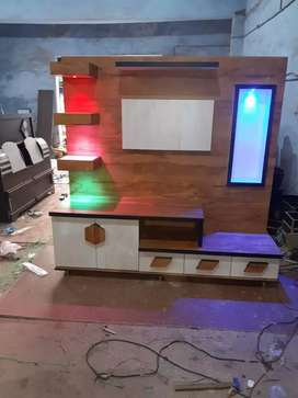 Brand New Tv unit with Led light..Size:5×6 Lowest Price Available