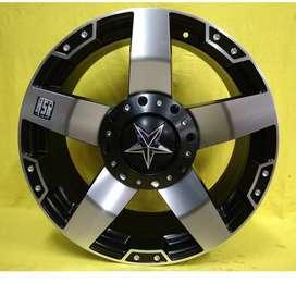 Velg mobil Xpander ring 17 lebar 9 tipe Rasta black polish