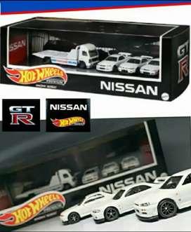 Hot wheels premium Nissan diorama garage Hot wheels nissan set