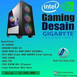 PC RAKITAN INTEL i5 10400f RAM 16GB KIT RGB DDR4 3200MHZ GTX 1660SUPER