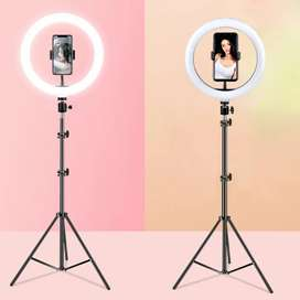 Ring Light With Mobile Holder With 7 Feet Metal Body Tripod Stand