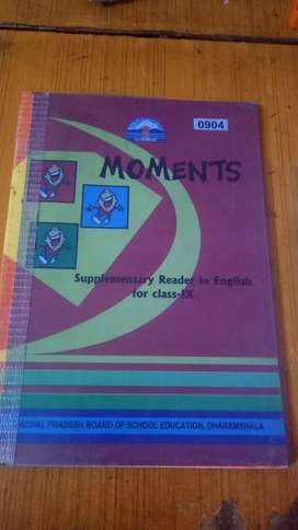 English book - Moments of 9th class