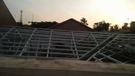 Rangka bajaringan terpasang+atap G. Metal pasir terpasang bergaransi