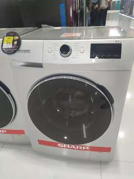 Mesin Cuci Sharp 9.5 kg, bisa kredit tanpa jaminan, 3 mnt Cair