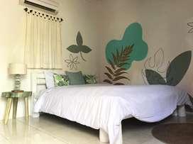 Rumah 2 Kamar sewa Bulanan dekat Seminyak Kerobokan di Denpasar