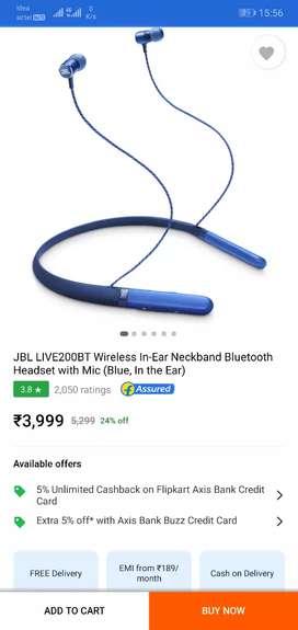 JBL live 200 bluetooth neckband earphone worth Rs 39999