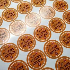 Pusatnya cutting sticker label kemasan print stiker kaca film vinyl