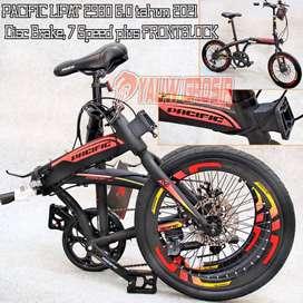 Sepeda Lipat PACIFIC CAKRAM 2980 RX 2980RX seri Velg Tinggi 2021
