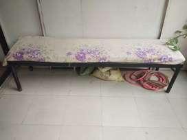 Iron bench with matress