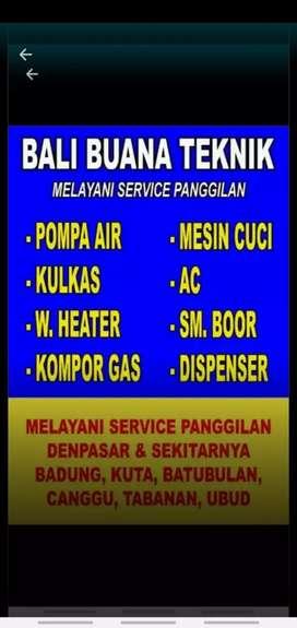 Service  Pompa   Air, AC, Kulkas, Mesin Cuci, Kompor gas, Water heater