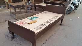 New single wooden bed 6fit by 3fit without box