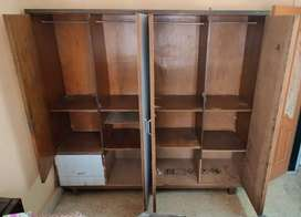 Wardrobe and wall cabinets