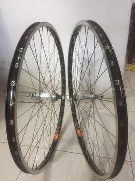 SEPASANG VELG/ PELEK sepeda ukuran 26 FULL SET!!