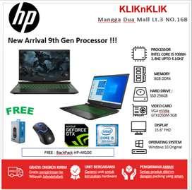 LAPTOP GAHAR HP PAVILION GAMING I5-9300H-8GB-256-GTX1050M-CICILAN 0%