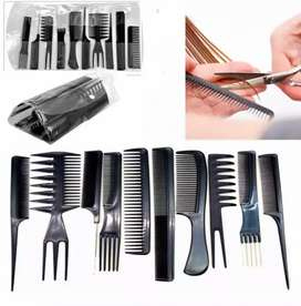 Daraz.pk 10 PCS Hair Stylists Styling Comb Set, Salon Barber In Stok