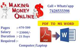 Genuine Income --Start Earning With Typing Work