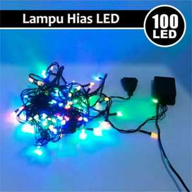 KABEL HITAM LAMPU NATAL HIAS / LAMPU TUMBLR LED RAINBOW 7 WARNA