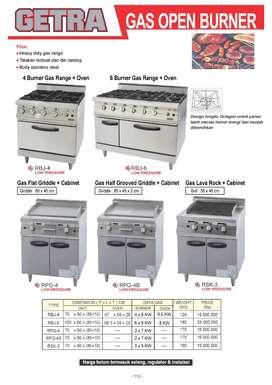 gas oven burner GETRA (  bisa di kredit )
