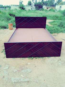brand new king size without storage bed in dark brown colour