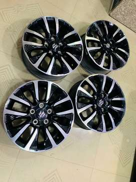 16 inches brazza OEM diamond cut stock alloy wheels only one day uesd