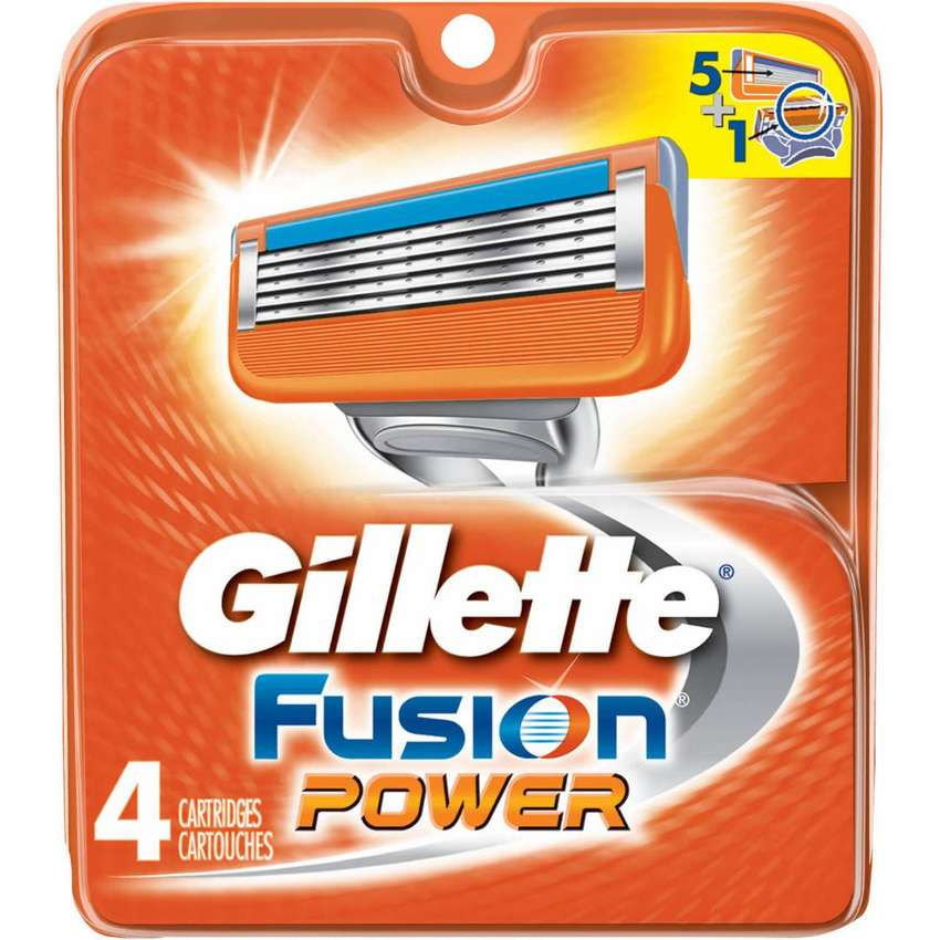 Gillette Fusion ProGlide Razor Blades (4 Packs) {UK import - Original}