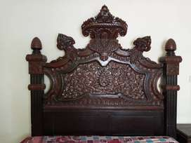 Pure chinoti bed set with side tables and sofa set made of shishum