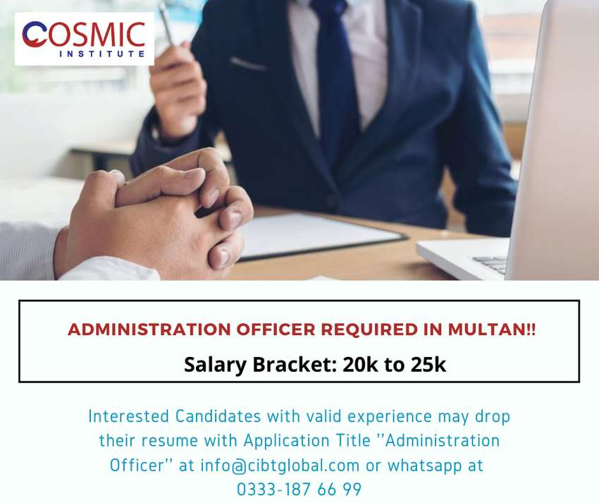 Experienced Admin Officer Required in Multan 0