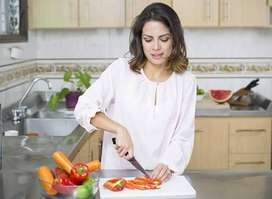 No hidden charges urgent hiring for female maid, cook, helper..