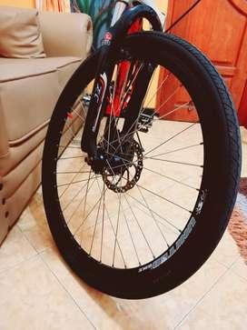 Sepeda Gunung MTB Ringan Double Cakram 8x3Speed diatas Polygon Monarch