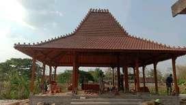 Pendapa Kayu Jati Joglo Ukiran cocok Untuk Resto Kafe dan Villa