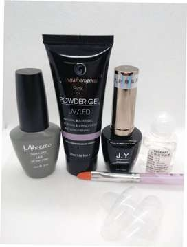 Poly Gel+Base Coat+Nail Forms+Slip Solution+Topcoat