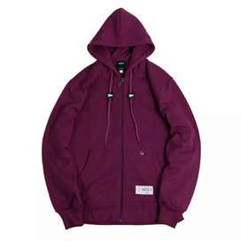 Zipper Hoodie burgundy