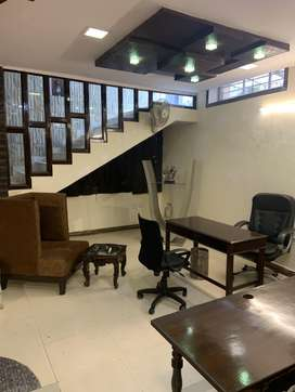 Fully Furnished three side corner Basement office for sale
