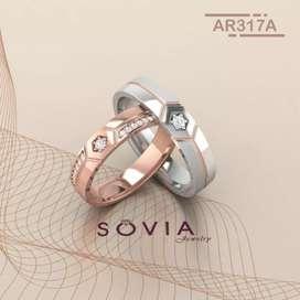 Menjual cincin kahwin couple free custom & free ukir nama