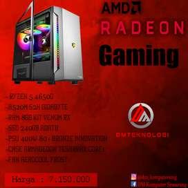 PC Rakitan Ryzen 5 4650G VGA Radeon RX Vega Onboard Ready GamingDesain