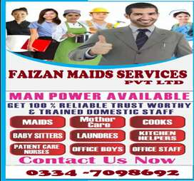 FAIZAN MAIDS SERVICES pvt ltd House Maids  Baby Sitter Nanny